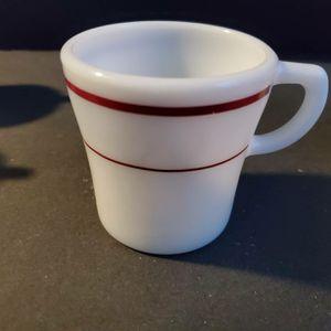 6 Pyrex Royal Burgundy Striped Mugs for Sale in Midland, MI