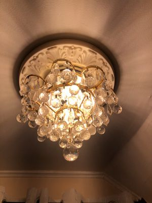 Mini crystal light fixture for Sale in Queens, NY