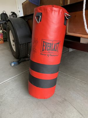 Everlast punching bag for Sale in Fontana, CA