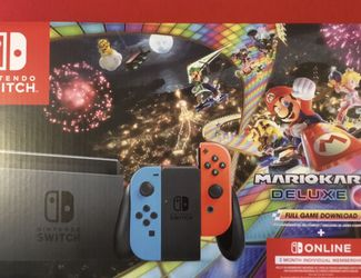 Nintendo Switch Console Mario Kart 8 Deluxe +3 Month Online Bundle. Brand New. Price Firm. for Sale in Portland,  OR