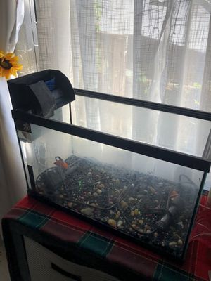 10 gallon fish tank with filter and heater for Sale in Vernon, CA