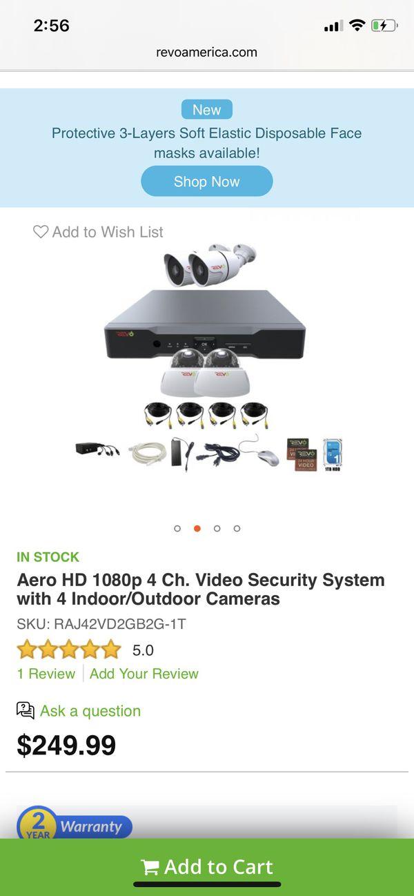 Aero 4 camera security system *new*