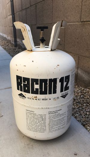 30 pound Freon tank / 30# freon refrigerant / liquid tank / empty RACON 12 tank / 13.6kg empty tank for Sale in Phoenix, AZ