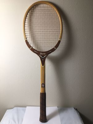 Vintage Davis Hi-Point TAD Tennis Racquet Wooden Made in US Custom Made 4 3/8L for Sale in Philadelphia, PA