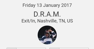 D.R.A.M. tickets 1/13/17 for Sale in Nashville, TN