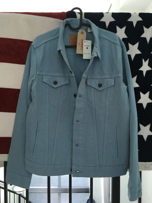 Levi's summer blue unique trucker jacket for Sale in Miami, FL