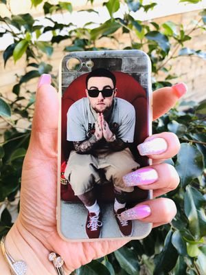 Brand new cool iphone 7, 8 REGULAR case cover rubber mac Miller hip hop mens guys hypebeast hypebae womens girls hype swag for Sale in San Bernardino, CA