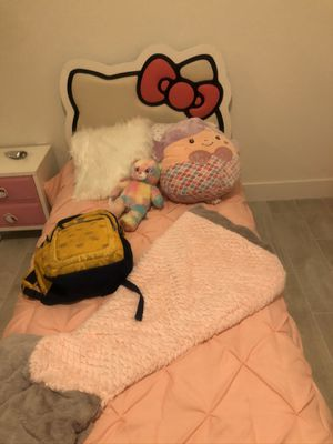Hello Kitty Bed Frame, Mirror and Cabinet $75.00 for Sale in Homestead, FL