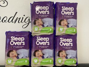 Sleep overs diapers size SM/ MED. for Sale in Portland, OR