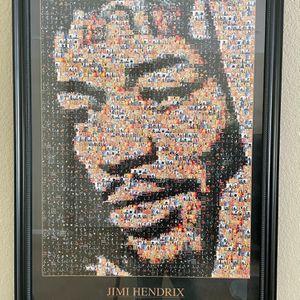 Jimi Hendrix Framed Poster for Sale in Vallejo, CA