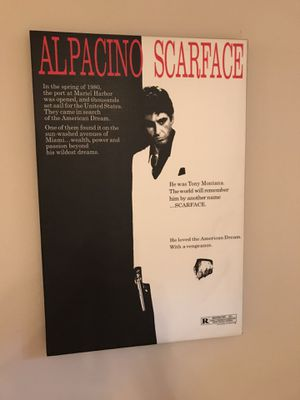 Scarface stretched canvass for Sale in Seattle, WA