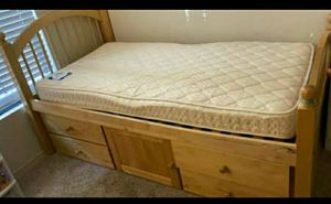 Twin Bed frame and mattress for Sale in Denver, CO