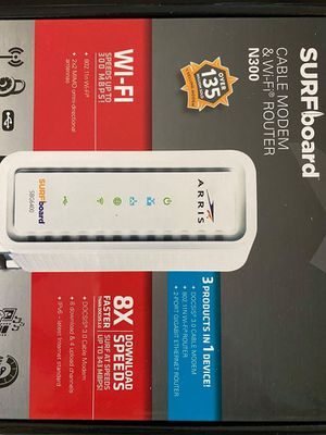 Arris Surfboard cable modem and router N300 $30 (barely used) for Sale in Pasadena, CA