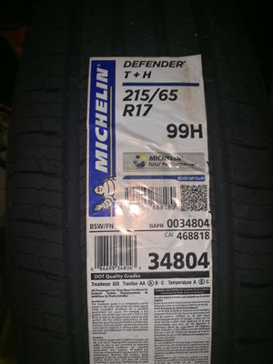 Dodge Charger 2014 Tires (Michelin Defender T+H ) for Sale in Washington, DC