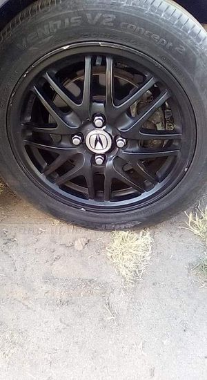 Factory rims size 15 black with tires for Sale in Fresno, CA