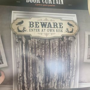 Door Curtain- BEWARE Enter At Your Own Risk for Sale in Owings Mills, MD