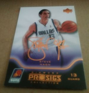 🌟 STEVE NASH UPPER DECK DIAMOND COLLECTION CARD FROM 2004🌟MAKE AN OFFER🌟 for Sale in Miami, FL