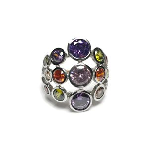 316L SS Stainless Steel Ring With Multi-Colored Stones In Round Shapes for Sale in Temecula, CA
