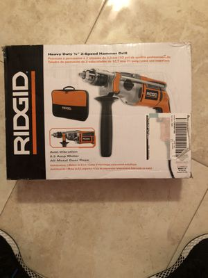Hammer drill ridgid electric is brand new for Sale in West Palm Beach, FL