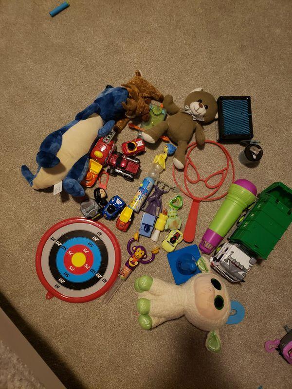 Group of random toys
