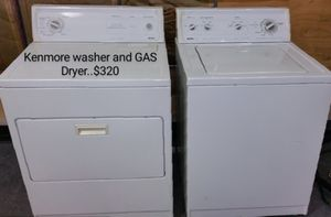 Kenmore washer and GAS Dryer for Sale in El Paso, TX
