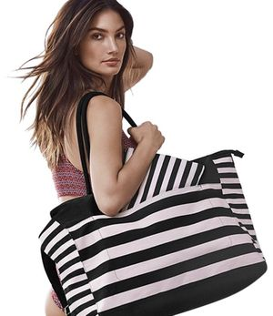 Victoria Secret Pink and Black Stripes bag -NWT for Sale in Spokane, WA