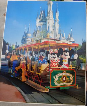 "Vintage Disneyworld Main Street Trolley Photo 16""x20"" for Sale in Montclair, CA"