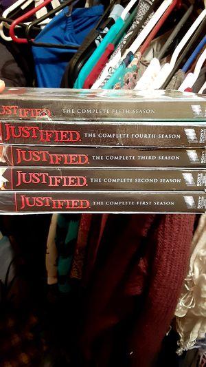 Justified season 1 through 5 for Sale in Vidor, TX
