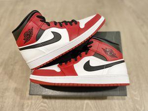 Jordan 1 Mid Chicago White Heel Size 10 & 12 Men for Sale in Los Angeles, CA