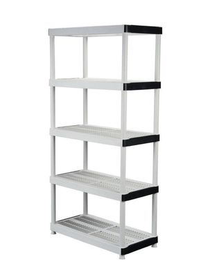 Lightly Used White Keter 5-Tier Plastic Shelf for Sale in Olympia, WA