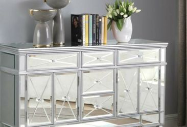 Rachel mirrored silver buffet / sideboard for Sale in Los Angeles,  CA