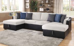 New large sectional couch with pullout bed and storage /$50 down for Sale in Anaheim, CA