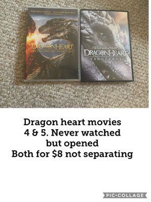 Dragon heart dvd movies. 4 and 5 lot for Sale in Vermontville, MI
