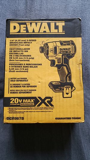 Dewalt 20v brushless xr 3speed impact brand new unopened bare tool no battery no charger $75 FIRM no OFFERS no MENOS for Sale in Fresno, CA