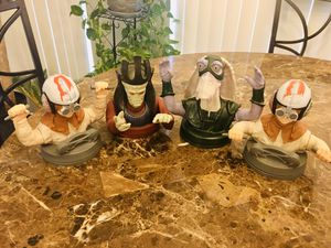 Lot of 4 Star Wars Action Figures Cup Toppers for Sale in Spring Hill, FL