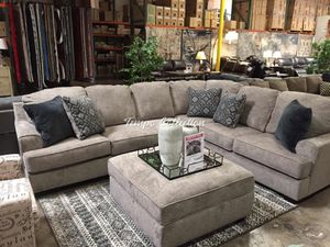 Sectional Sofa with Ottoman, Stone, SKU# ASH56103TC for Sale in Santa Fe Springs, CA