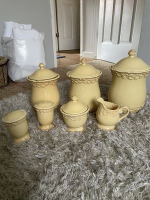 7 piece canister set for Sale in Reedley, CA