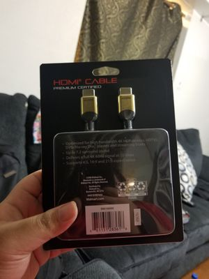 Black web HDMI Premium 4K UltraHD HDR Cable 12 foot for Sale in Houston, TX