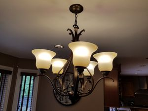 Kitchen Chandelier and matching Island pendant for Sale in Hoffman Estates, IL