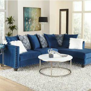 Blue & White Sectional for Sale in Atlanta, GA