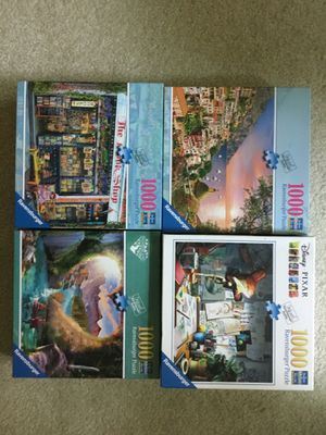 Group of 4 Ravensburger 1000 piece puzzles for Sale in Camp Hill, PA