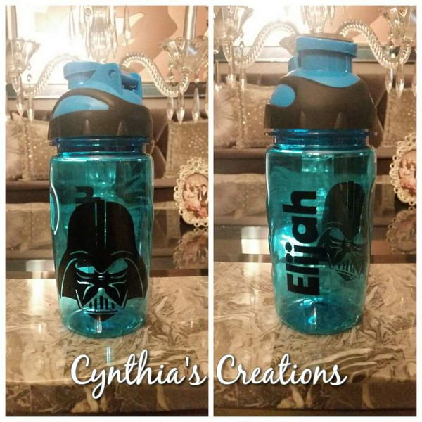 Custom star wars water bottle for kids