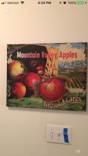 Apple Orchard pic and Cat Poster framed for Sale in Farmville, VA