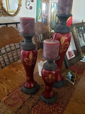 Hermoso ceramics candelabras con Velasquez rojas artesanas for Sale in Laveen Village, AZ