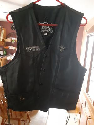 Leather motorcycle vest for Sale in Boston, MA