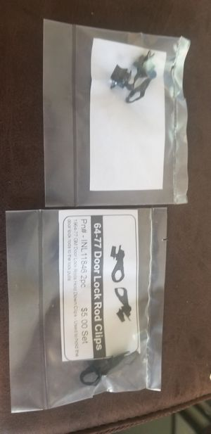1964-1977 GM Door Lock Rods Hold Down Clips. 2 pc for Sale in Wildomar, CA