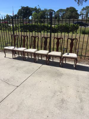 All 6 Wooden Chairs $35 DELIVERY AVAILABLE 🚗 for Sale in Bonita Springs, FL