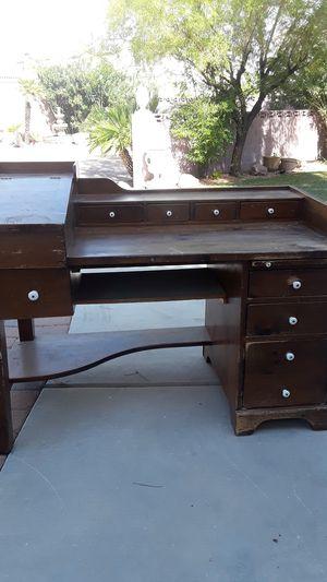 Antique wood desk for Sale in Las Vegas, NV