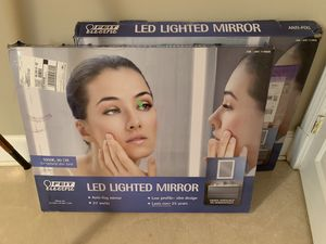 2 LED Bathroom Vanity Mirrors NEW in Box Feit Electric for Sale in Alexandria, VA