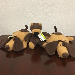 NEW stuffed animal gift - eco friendly recycled dog and teddy bear baby gift for Sale in Tujunga, CA